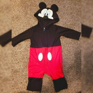 Mickey mouse one piece zip up